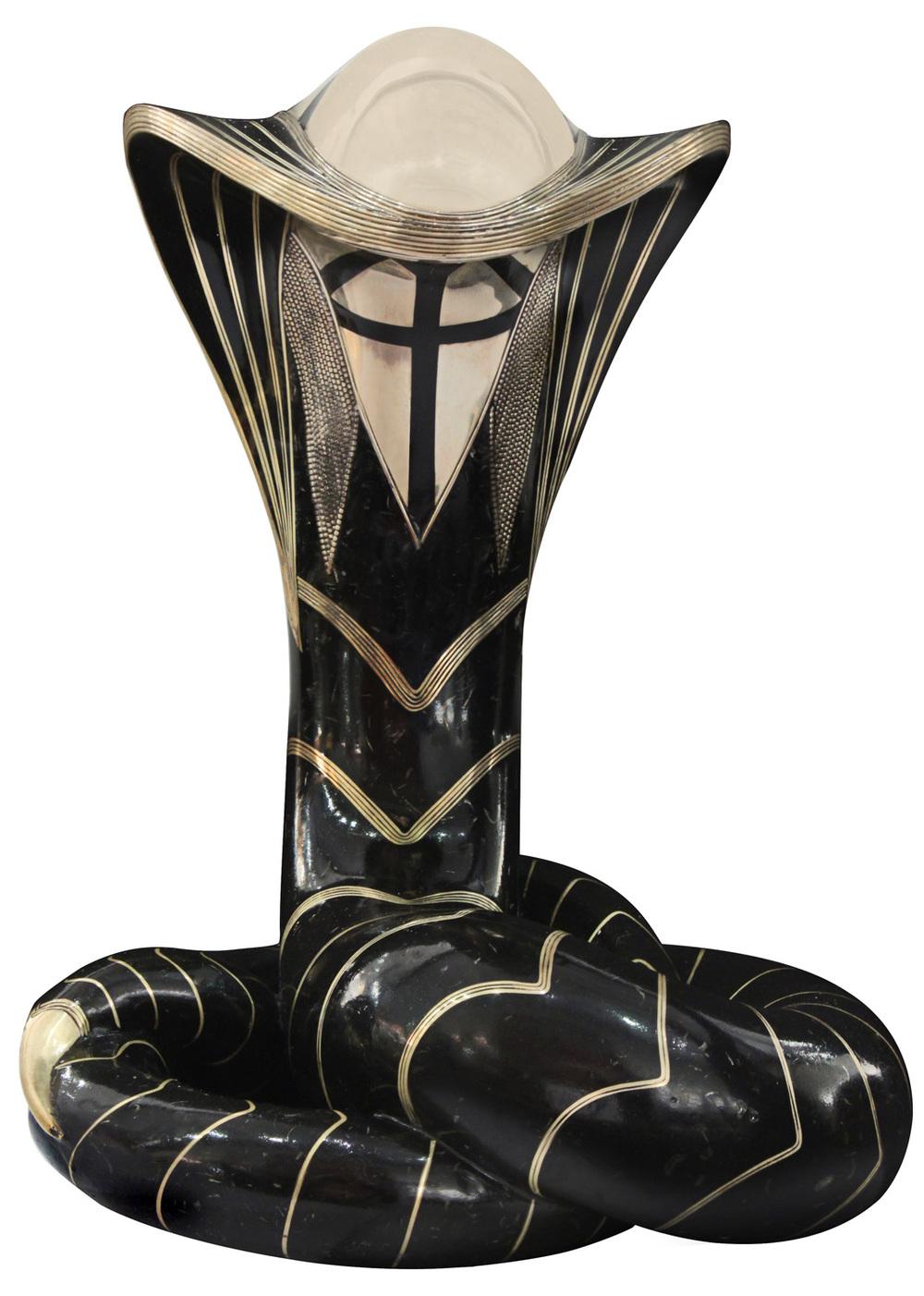 Estevesz 250 Cobra bronze+silver sculpture95 detail1 hires.jpg