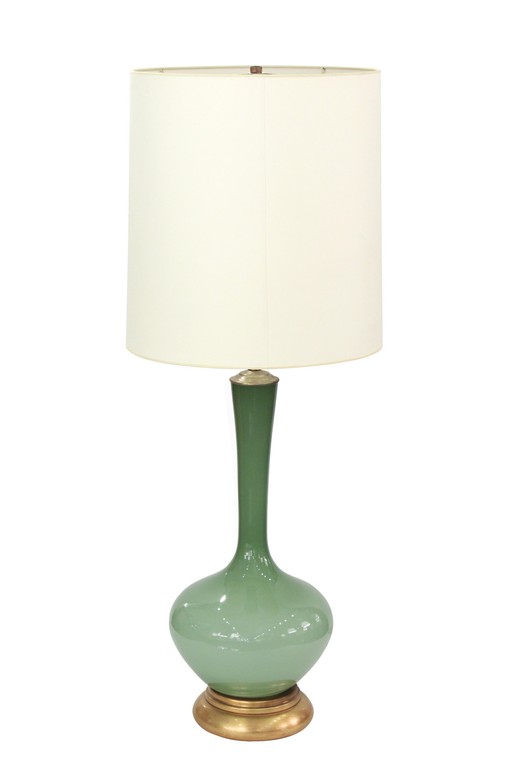 Large swedish handblown green glass table lamp lobel modern nyc marbro 55 green glass large tablelamp162 hiresg aloadofball