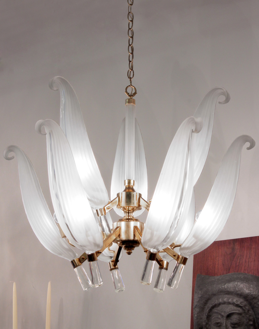 70s Murano 2 tier glass leaves chandelier184 detail3 hires.jpg