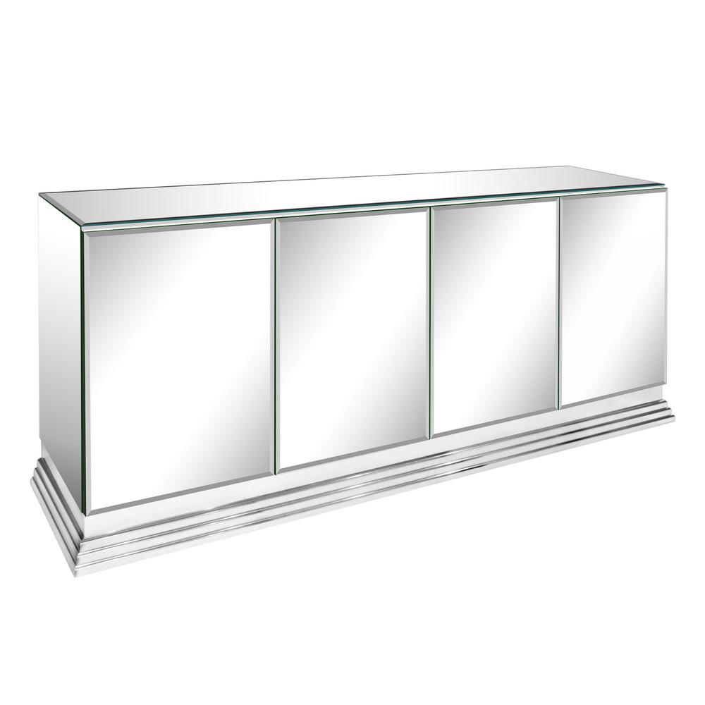 Ello Elegant Four Door Mirrored Credenza 1970s
