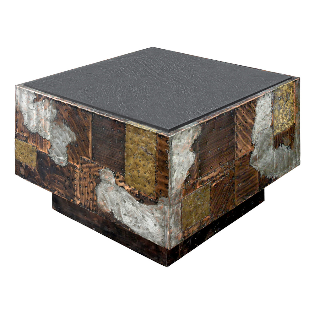 Exceptional Patchwork Side Table With Slate Top By Paul Evans   SOLD U2014  Lobel Modern NYC