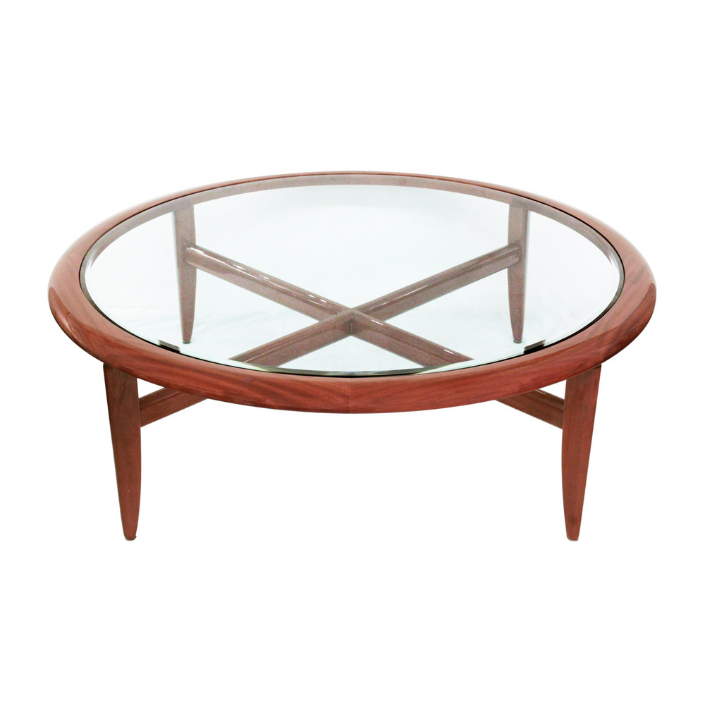 Mahogany Coffee Table With Inset Glass Top By Pace Collection 1980s U2014 Lobel  Modern NYC