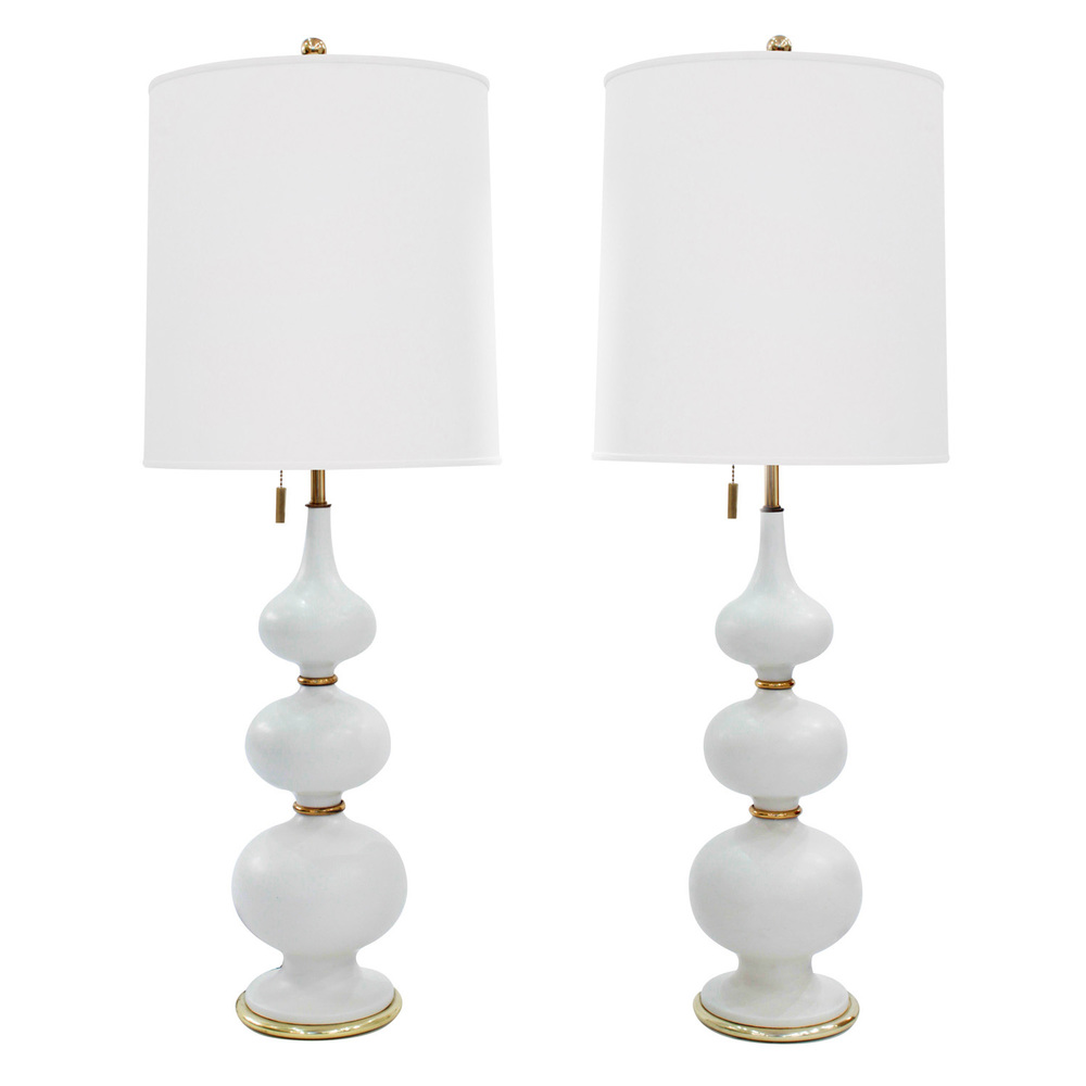 Pair of sculptural porcelain table lamps by gerald thurston sold pair of sculptural porcelain table lamps by gerald thurston sold lobel modern nyc aloadofball