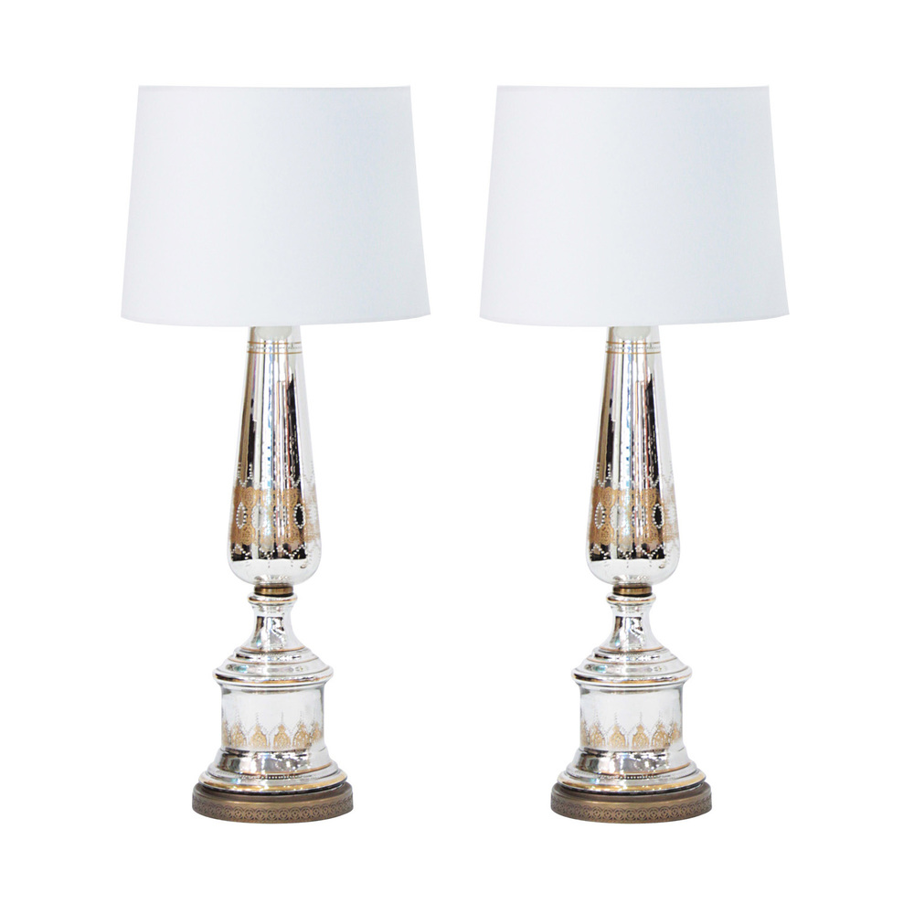 Pair of large decorated mercury glass table lamps 1940s sold pair of large decorated mercury glass table lamps 1940s sold lobel modern nyc aloadofball