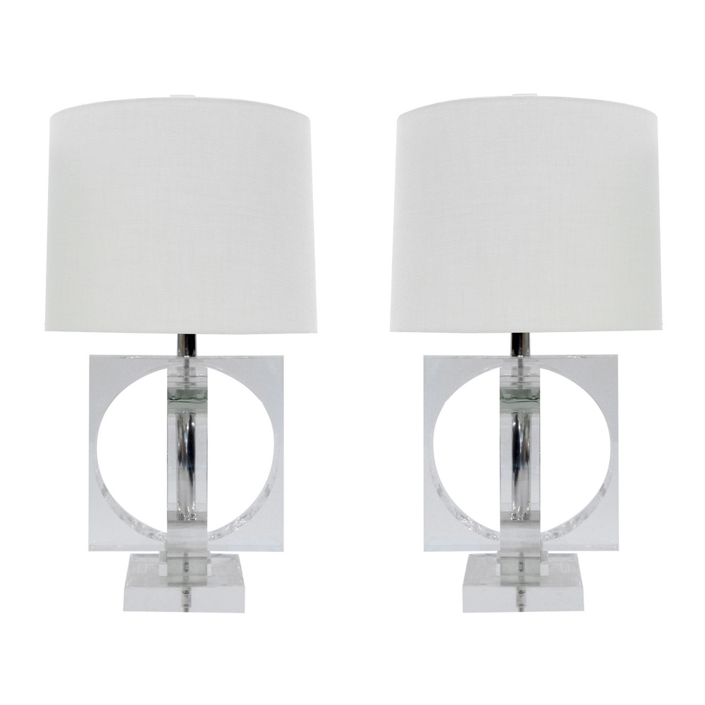 Large and impressive pair of lucite table lamps sold lobel large and impressive pair of lucite table lamps sold lobel modern nyc aloadofball