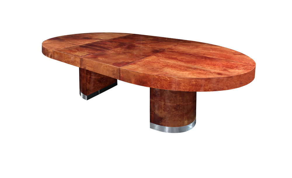 Seff 180 round goatskin + chrome diningtable159 main 2 hires.jpg