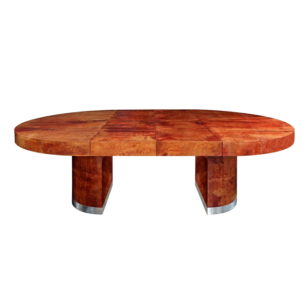 Seff 180 round goatskin + chrome diningtable159 main hires.jpg