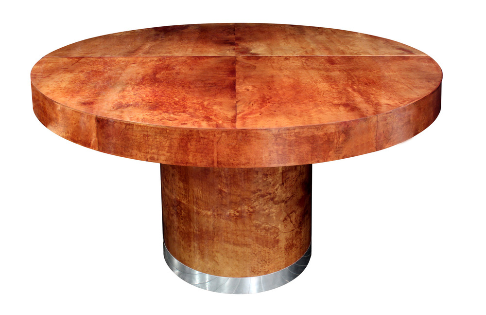 Seff 180 round goatskin + chrome diningtable159 main3 hires.jpg