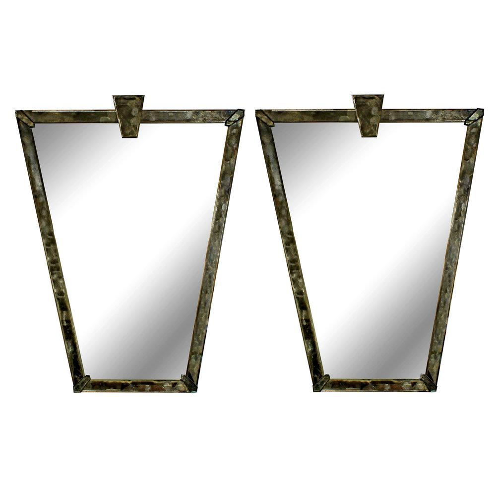 Pair of Elegant Italian Wall Mirrors - SOLD — Lobel Modern NYC