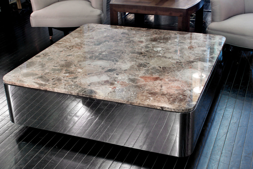 Brueton 85 polished steel+marble coffeetable75 detail5 hires.JPG