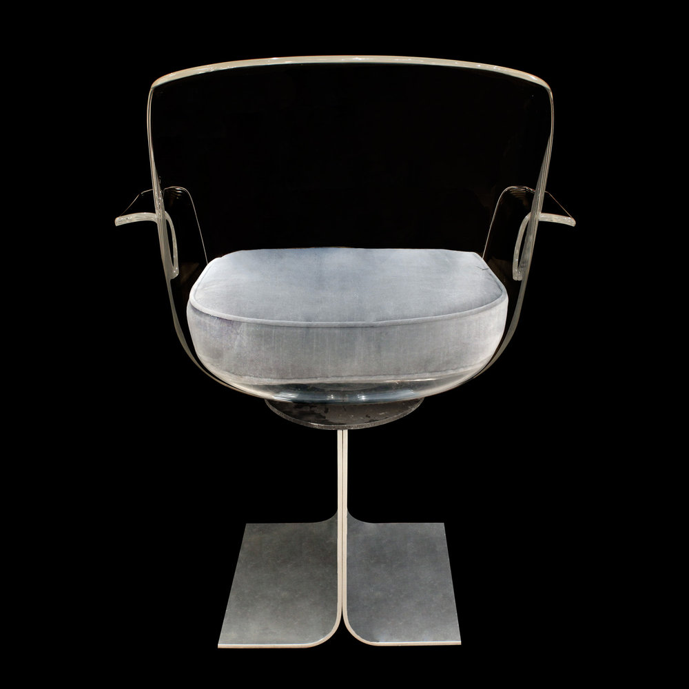 French 35 70s alum+lucite swivel deskchair17 back.jpg