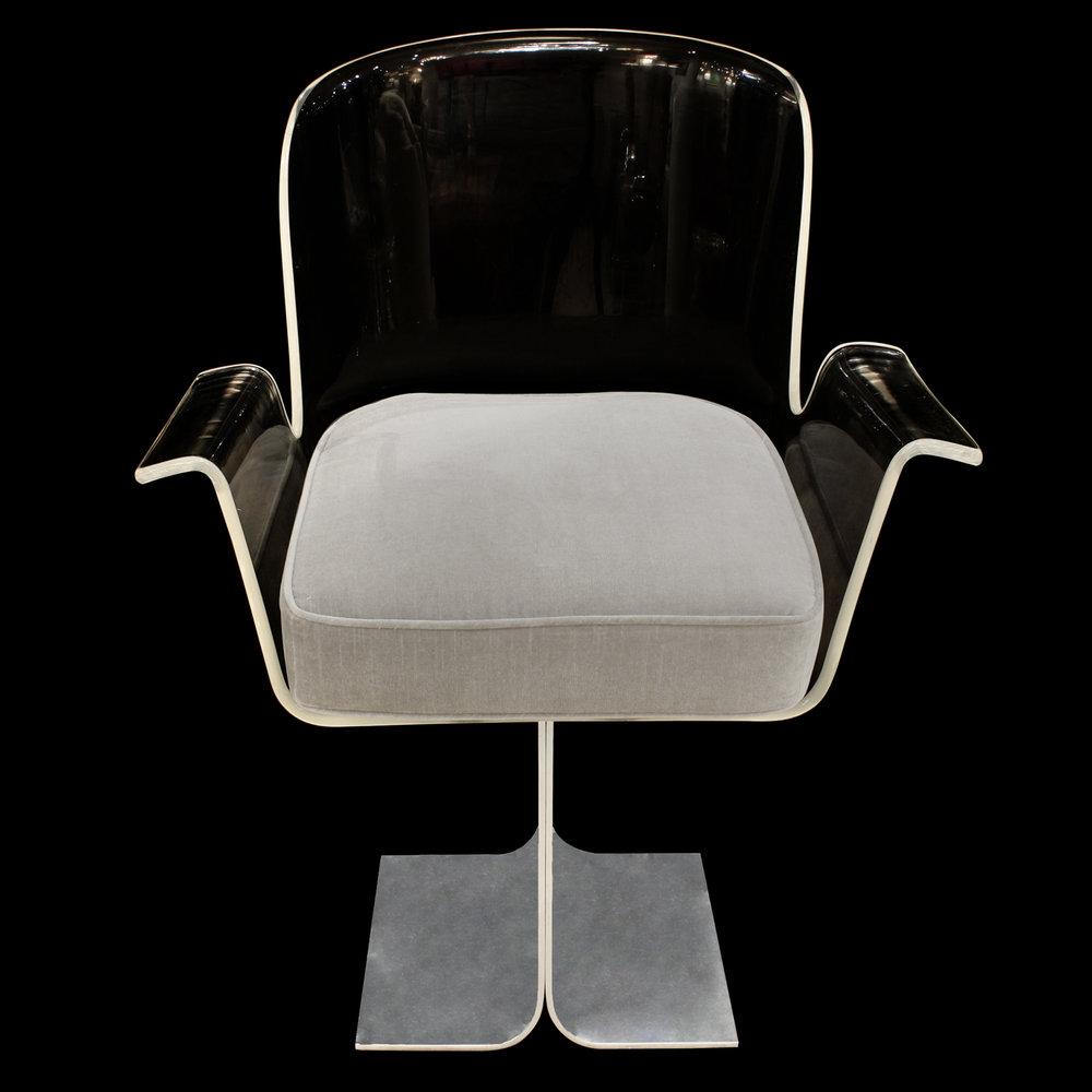 French 35 70s alum+lucite swivel deskchair17 front.jpg