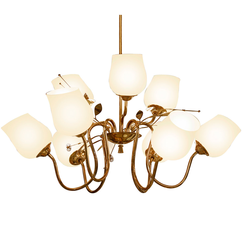 Itsu chandelier in brass 1950s sold lobel modern nyc aloadofball Image collections