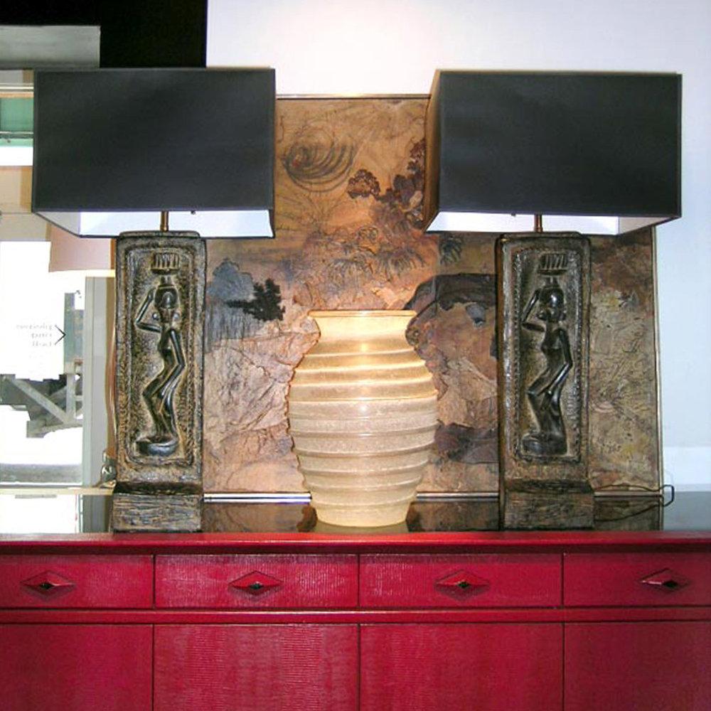 American 50 figural African plaster tablelamps48 hires atm.jpg