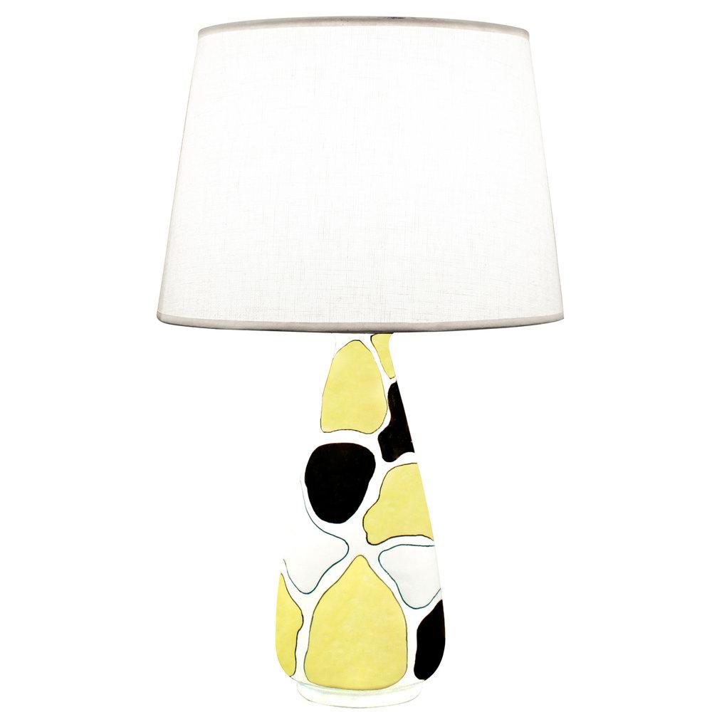 Italian 06  La Rinascente ceramic yllo+blk+wht tablelamp10 hires main.jpg