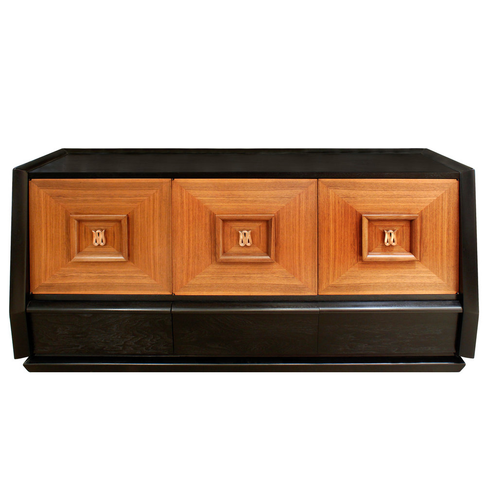 Elegant Three Door Credenza With Copper Pulls 1940s - SOLD \u2014 Lobel Modern NYC  sc 1 st  Lobel Modern & Elegant Three Door Credenza With Copper Pulls 1940s - SOLD \u2014 Lobel ...