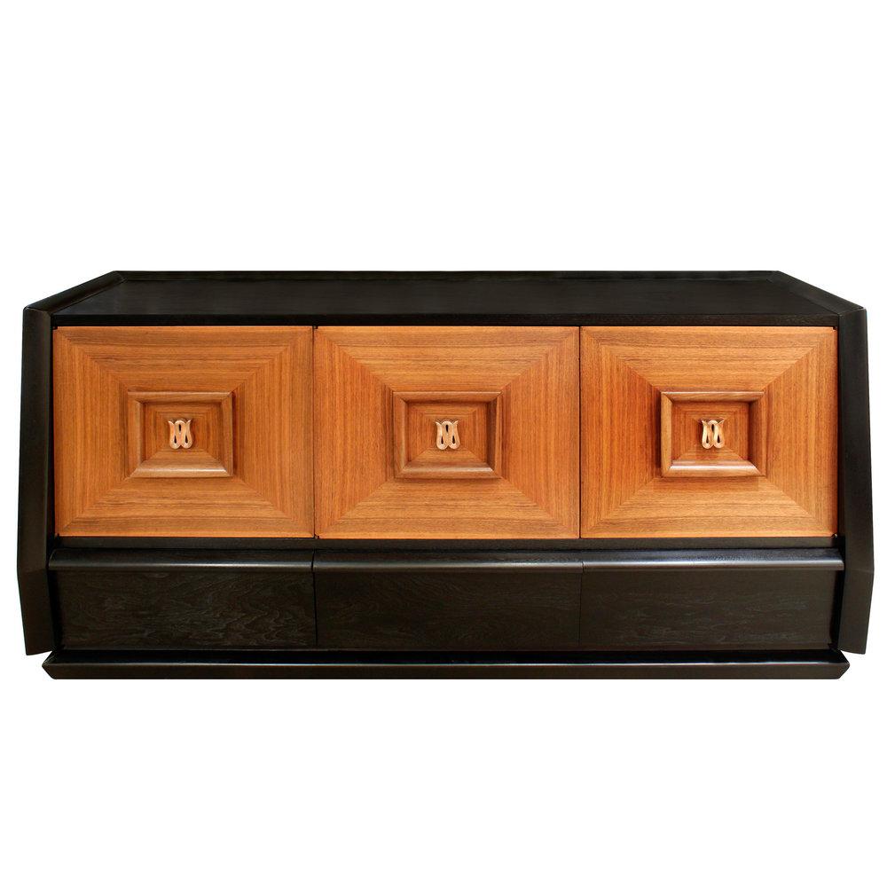 Elegant Three Door Credenza With Copper Pulls 1940s - SOLD \u2014 Lobel Modern NYC  sc 1 st  Lobel Modern NYC & Elegant Three Door Credenza With Copper Pulls 1940s - SOLD \u2014 Lobel ...