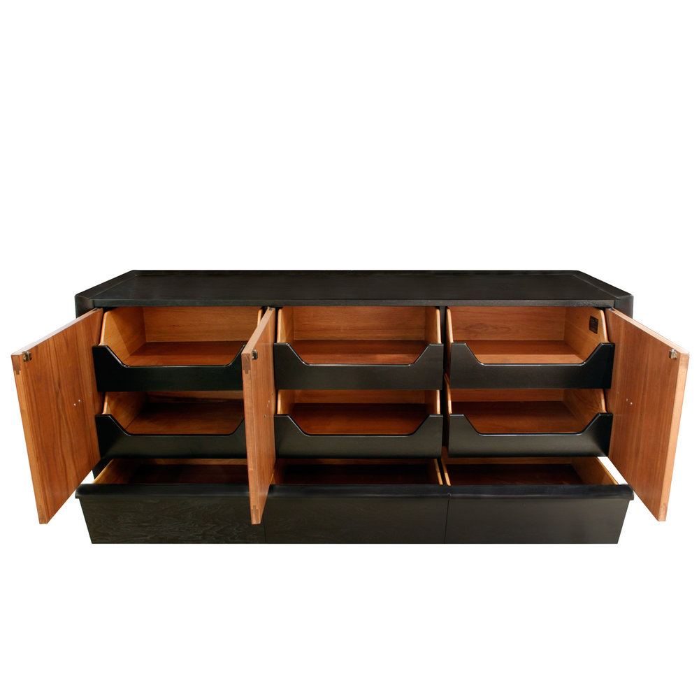 Italian 120 copper pulls ebonized credenza58 hires front doors open.jpg