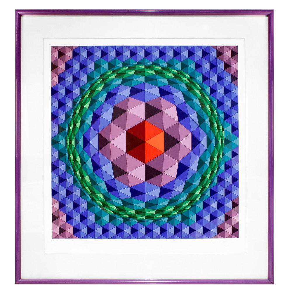 Vasarely 45 lrg geom prpl frame painting138 hires main.jpg