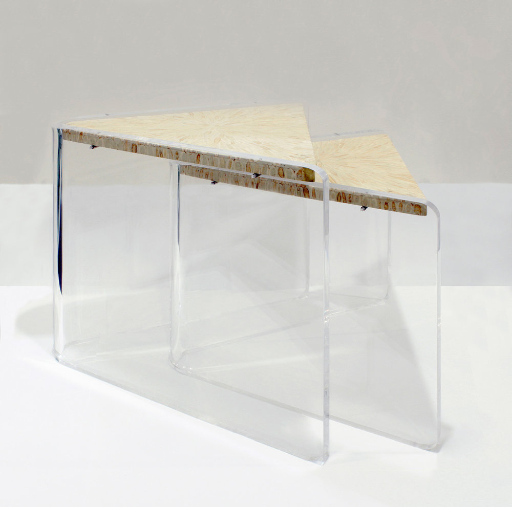 Garcel 45 Lucite+bone Nestingtables19 Pair Side