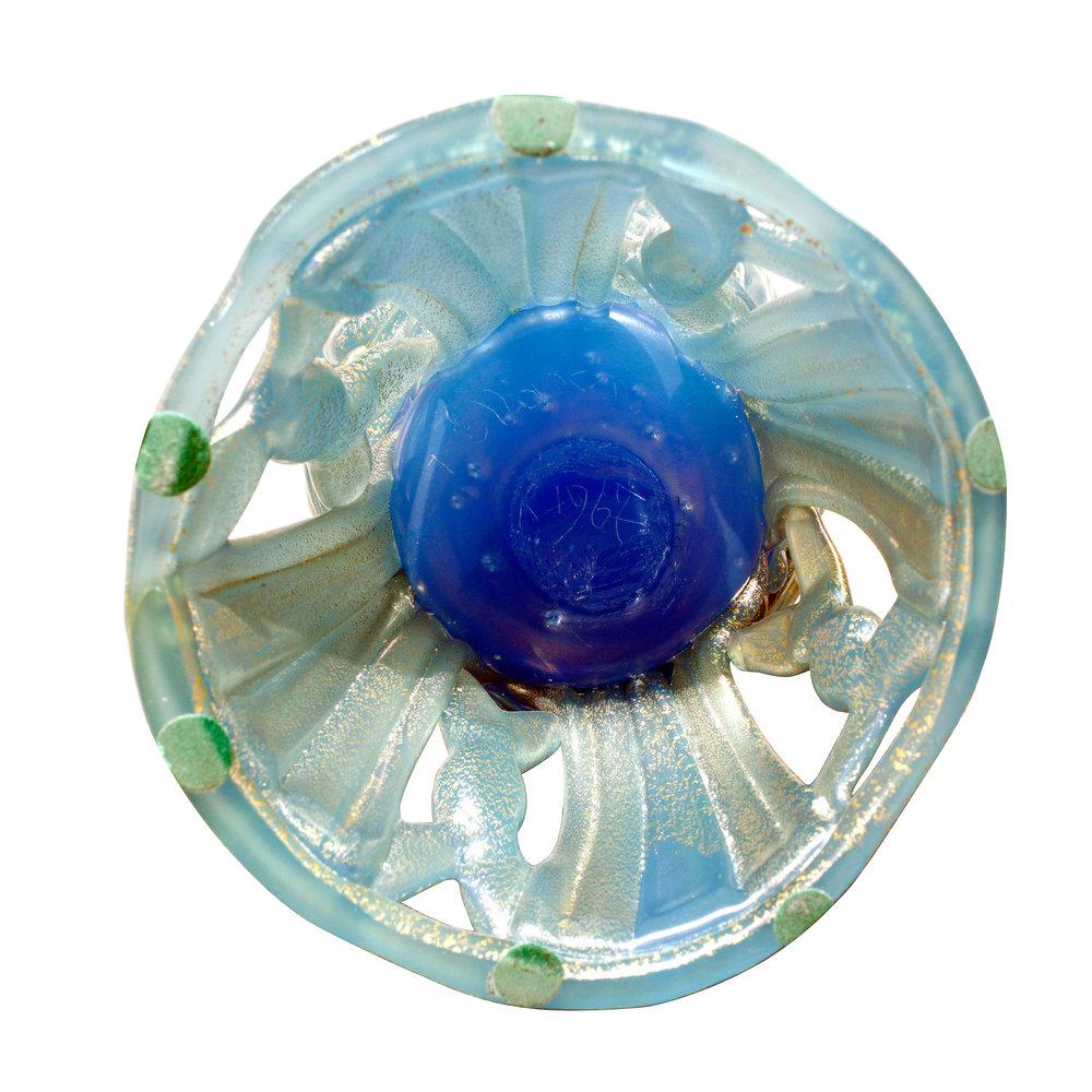 Nason 250 Ermanno blue masterpiece glass 64 bottom under detail.jpg