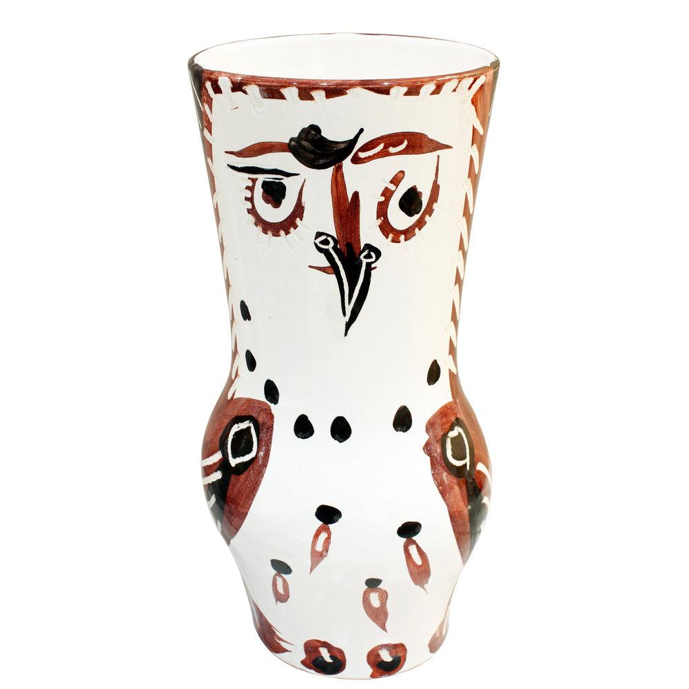 Picasso 200 lrg wood owl ceramic42 face.jpg