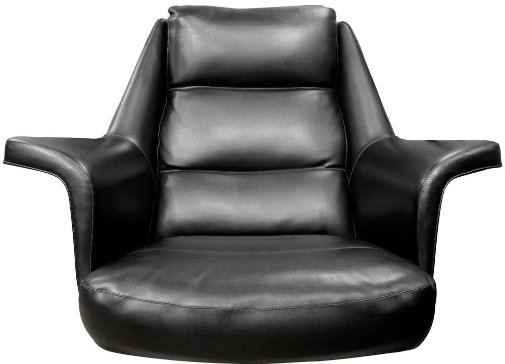 Tanier 65 blk vinyl chrome base chair&ottoman62 dtl.jpg