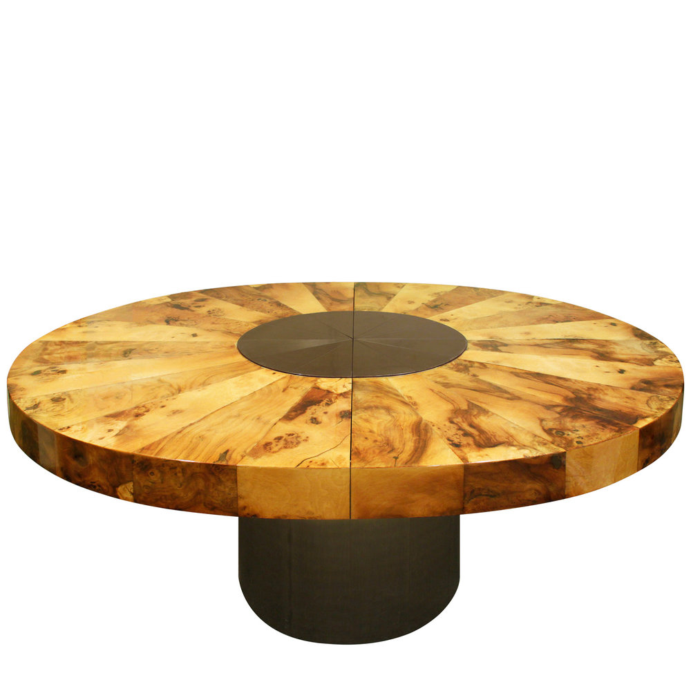 Evans 220 oval burl+black chrome diningtable162 fntsml.jpg