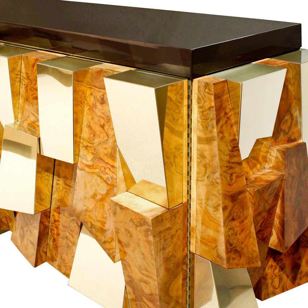 Evans 900 faceted burl+brass credenza61 door detail.jpg