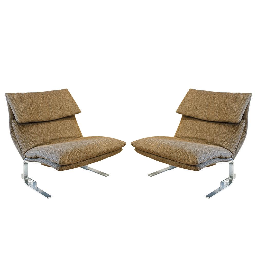 Saporiti 85 Onda steel armless loungechairs161 man.jpg