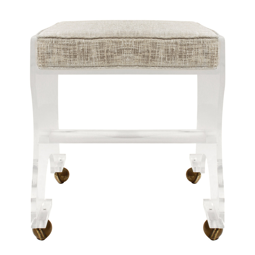 70s 35 lucite cushion on castors bench135 fnt dtl.jpg