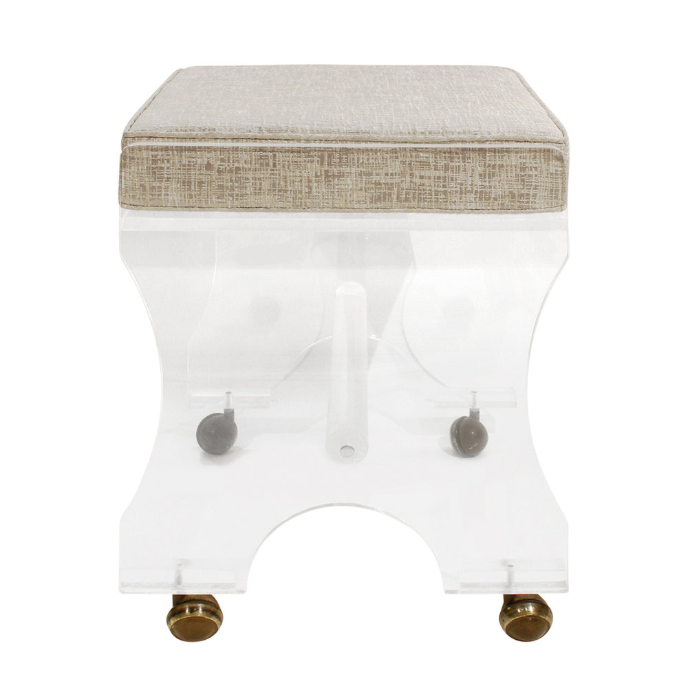 70s 35 lucite cushion on castors bench135 sid.jpg