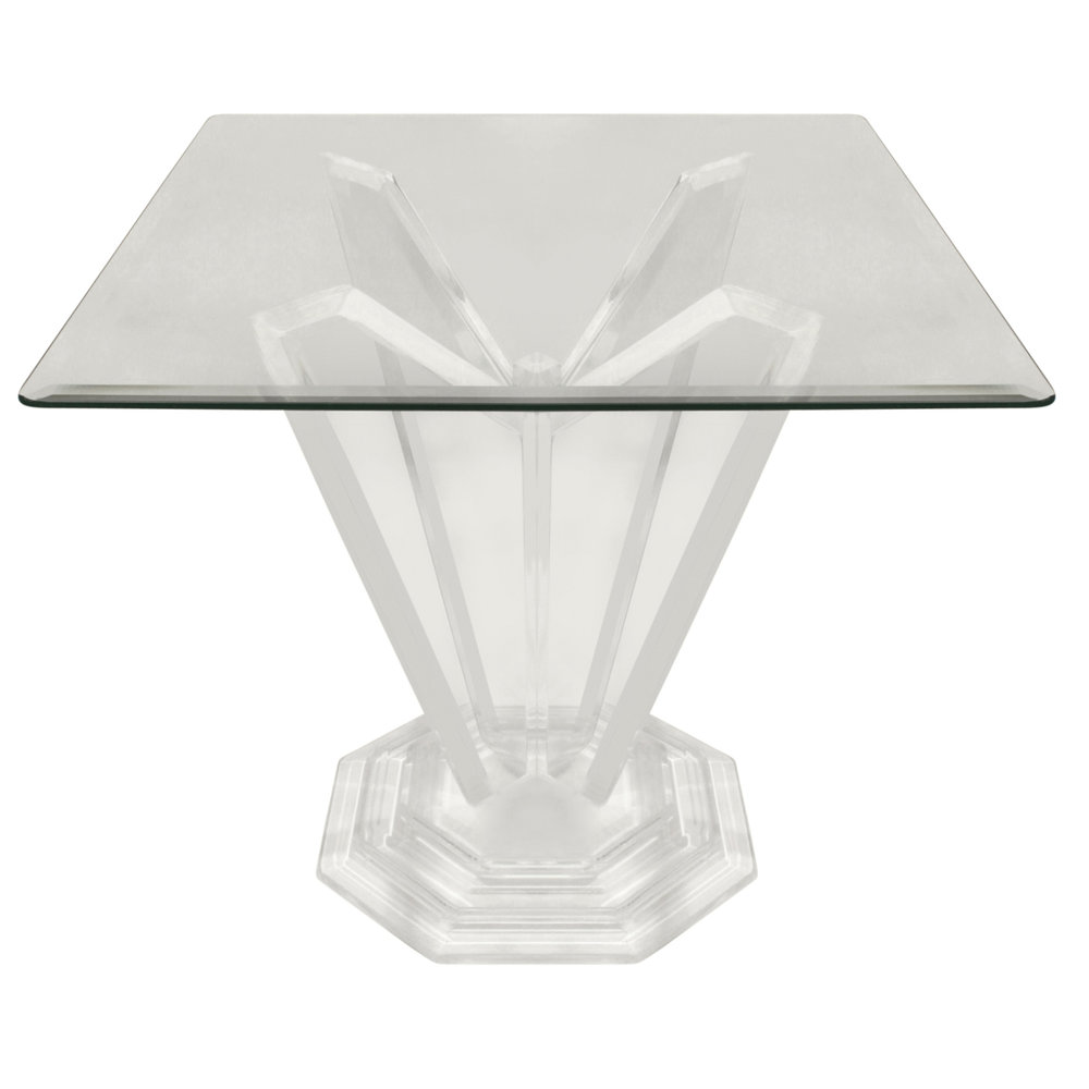 four spike squre lucite side table fnt.jpg
