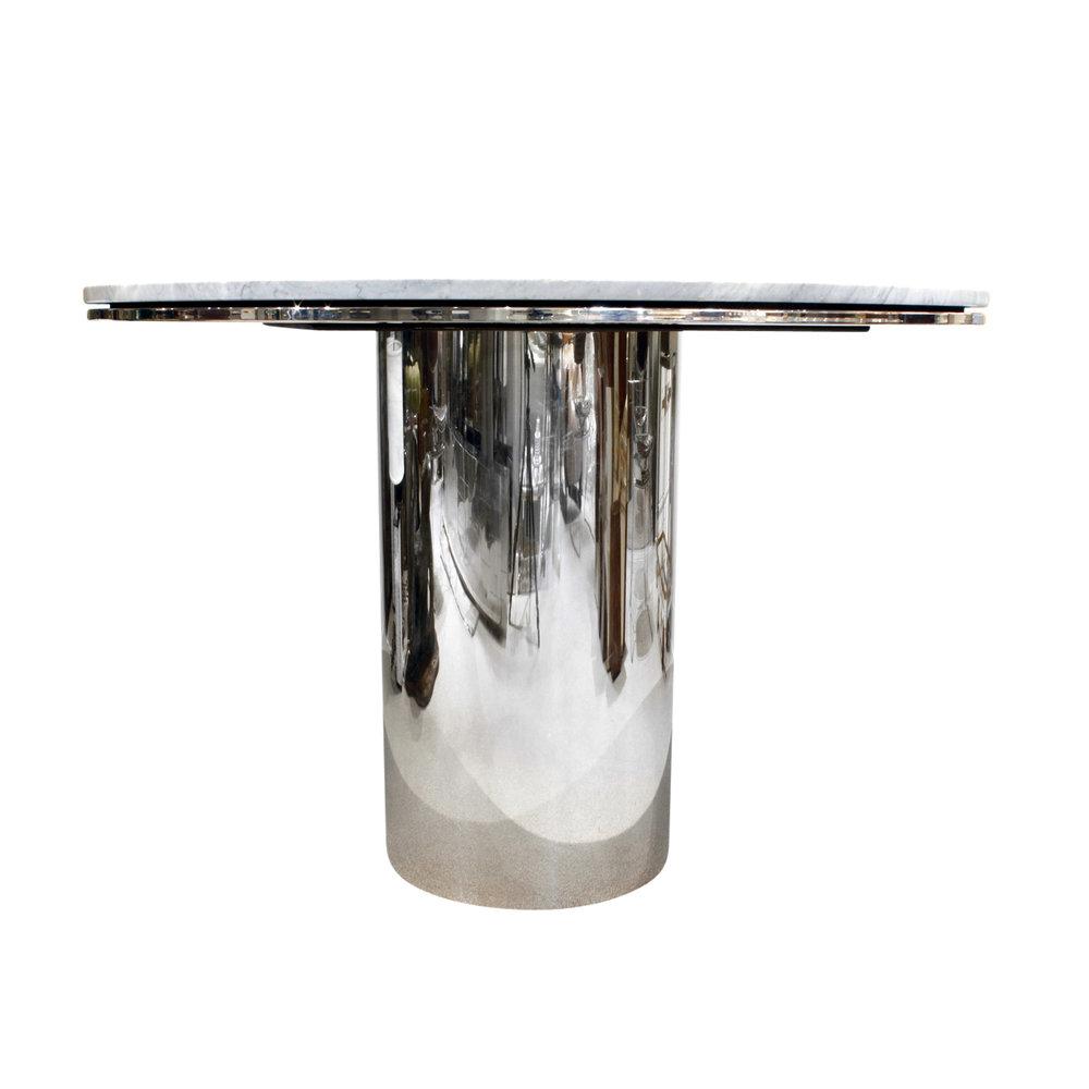 Brueton 95 polished ss+marble table13 frnt2.jpg
