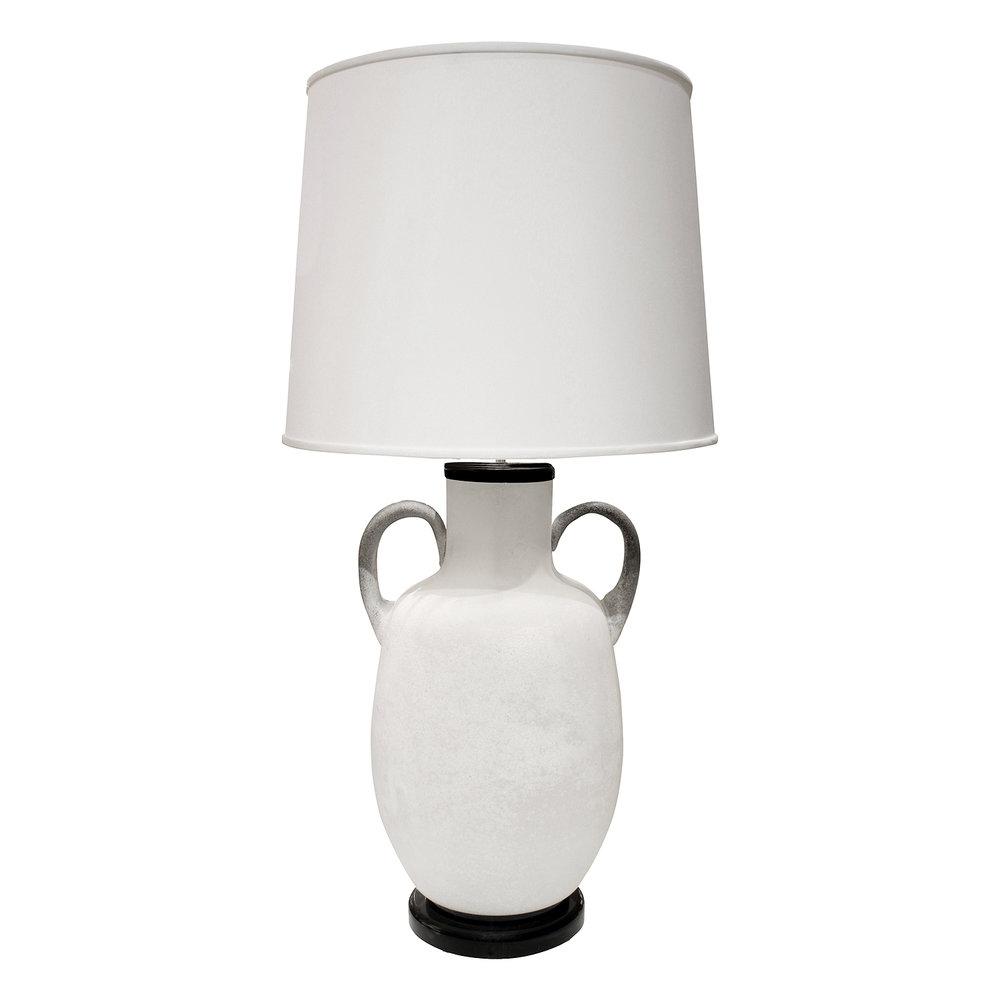 Seguso 45 white scavo urn tablelamp246 main.JPG