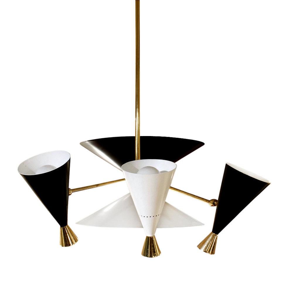 Arredoluce 300 3 sml cones chandelier234 side.jpg