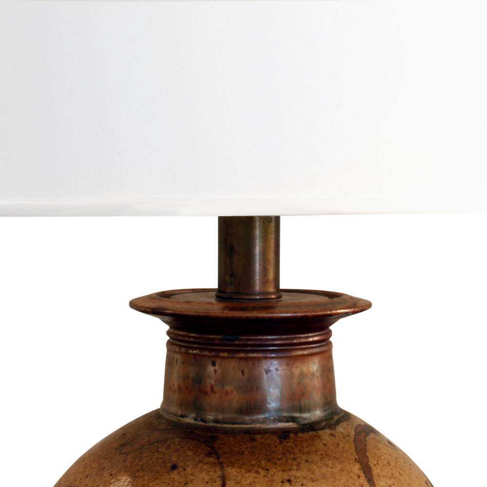 70's 25 stoneware salt-glaze tablelamp top.jpg