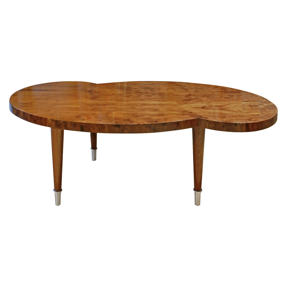 Tommi Parzinger Kidney Shaped Coffee Table 1954   SOLD U2014 Lobel Modern NYC