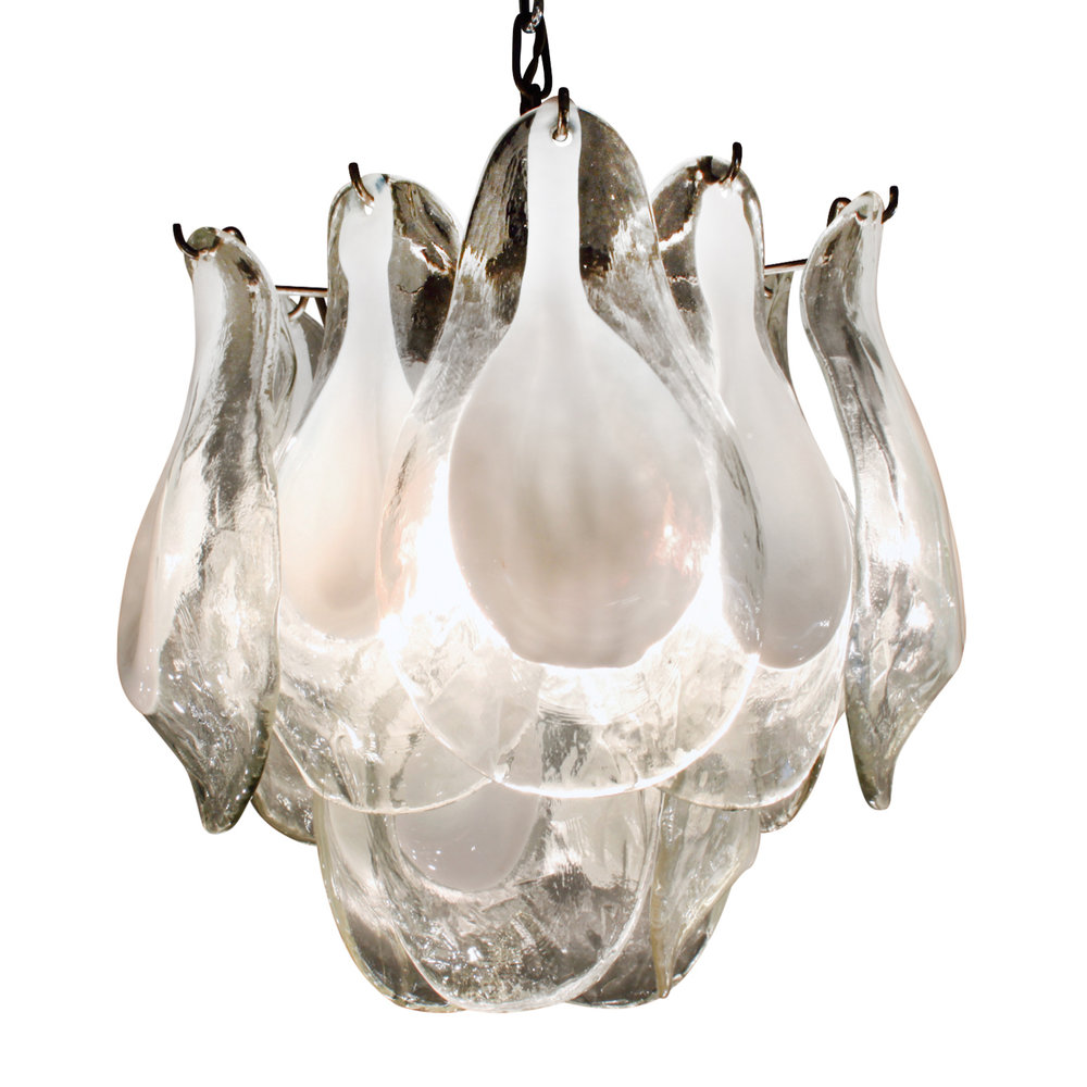 Vistosi 45 small clr+white petals chandelier189 main0.jpg