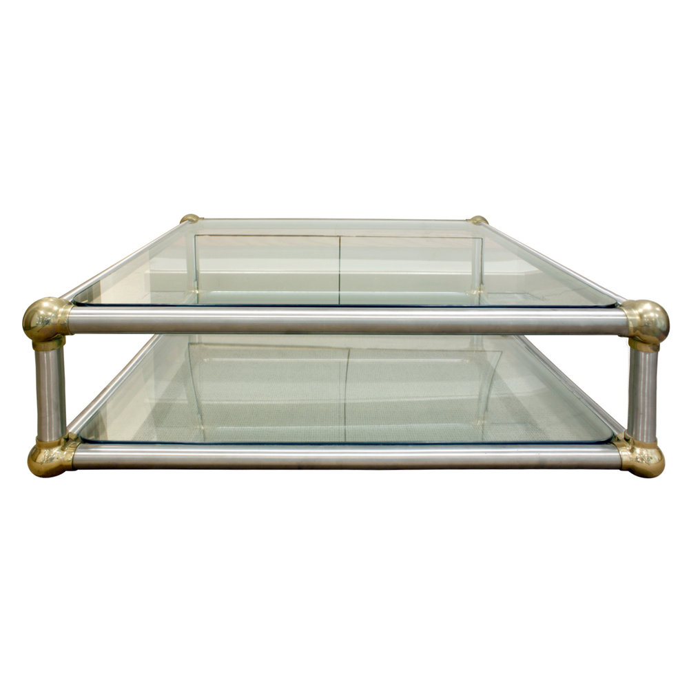 framed coffee hei slide shop constrain table pdp qlt brass detail fit view shot anthropologie