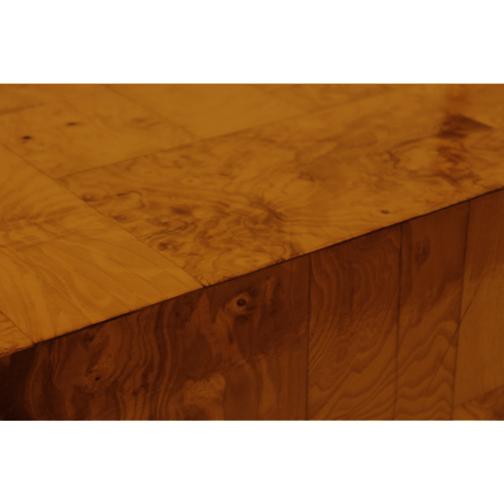 Evans 120 burled wood top chrome base coffeetable309 detail sqr hires 2.jpg