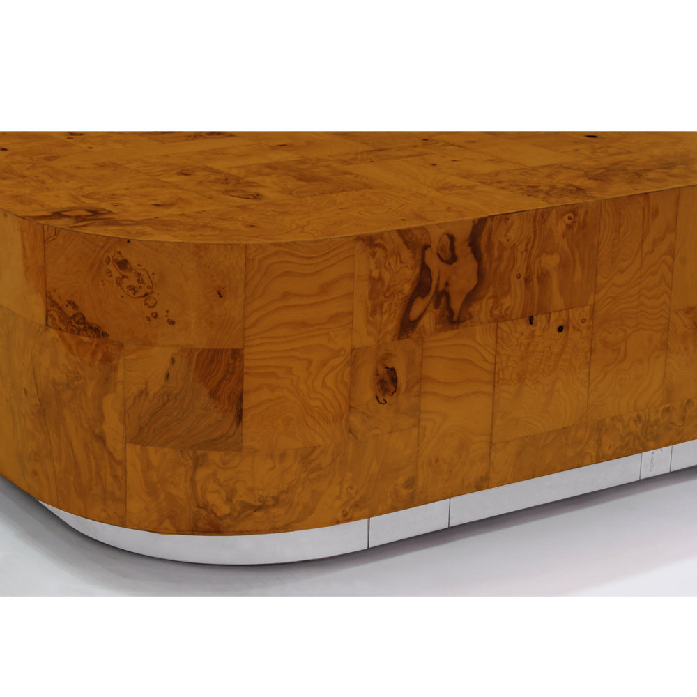 Evans 120 burled wood top chrome base coffeetable309 detail2 sqr hires 2.jpg