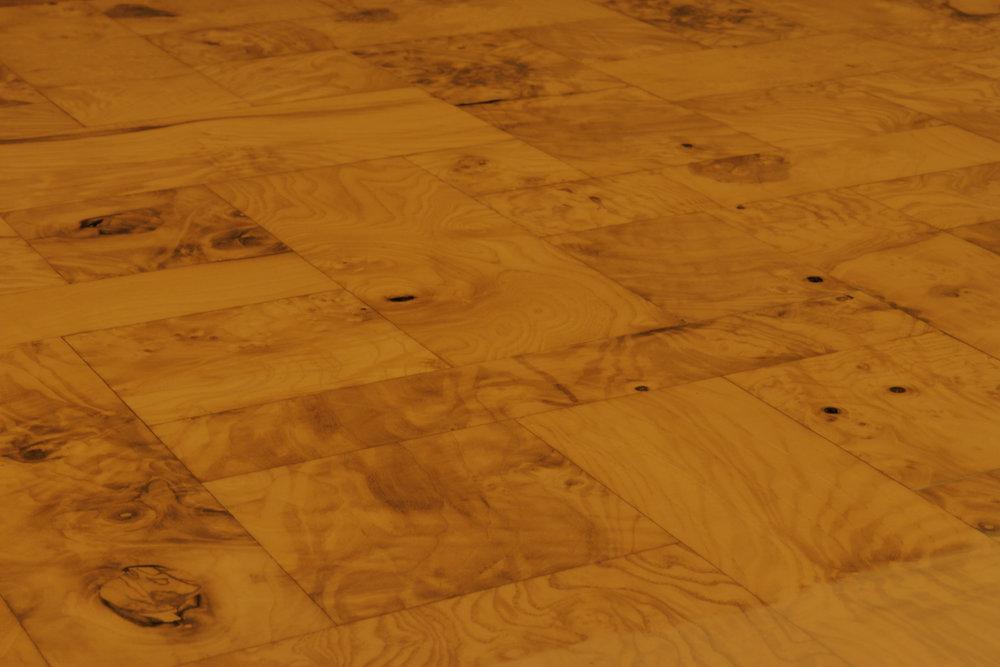 Evans 120 burled wood top chrome base coffeetable309 top hires 2.jpg