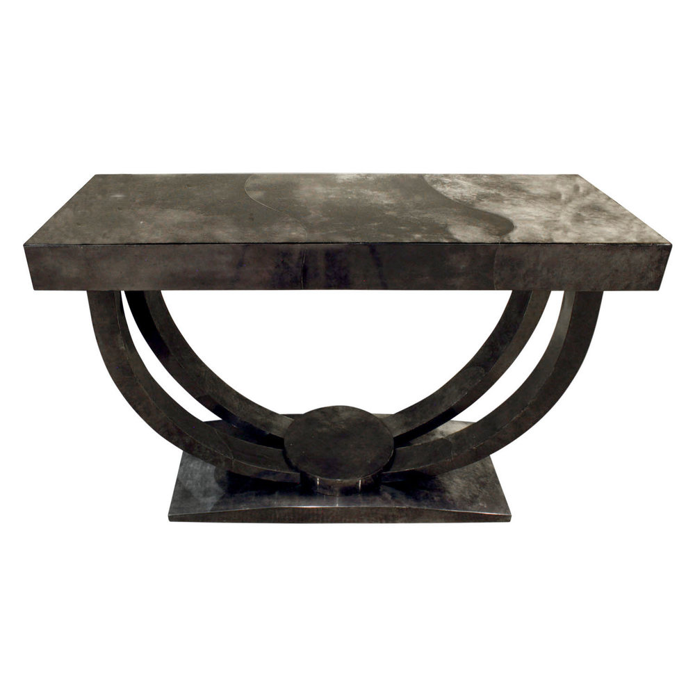 Karl springer art deco console table in lacquered goat skin karl springer art deco console table in lacquered goat skin 1970s lobel modern nyc geotapseo Image collections