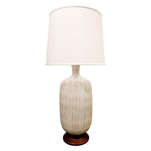 Table lamps single lobel modern nyc large studio made ceramic table lamp 1950s mozeypictures Choice Image