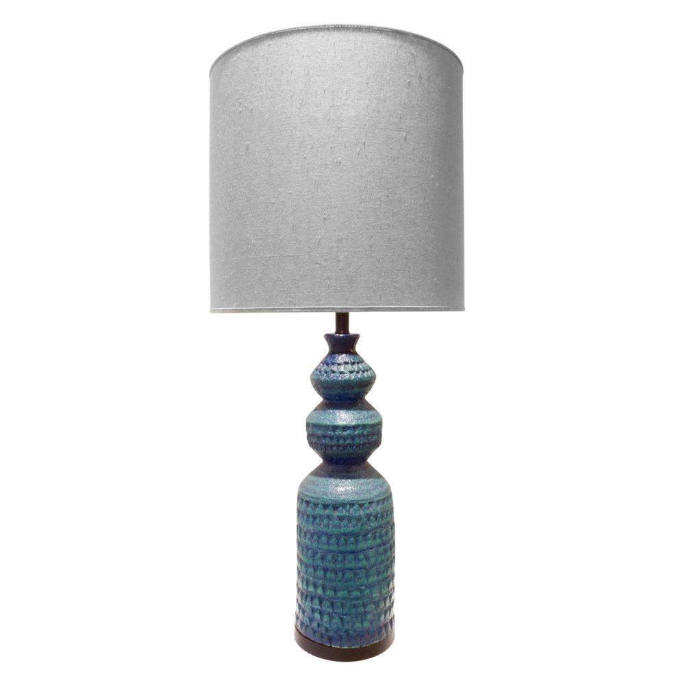 Bitossi Large Textural Studio Made Ceramic Table Lamp 1950s Lobel Modern NYC