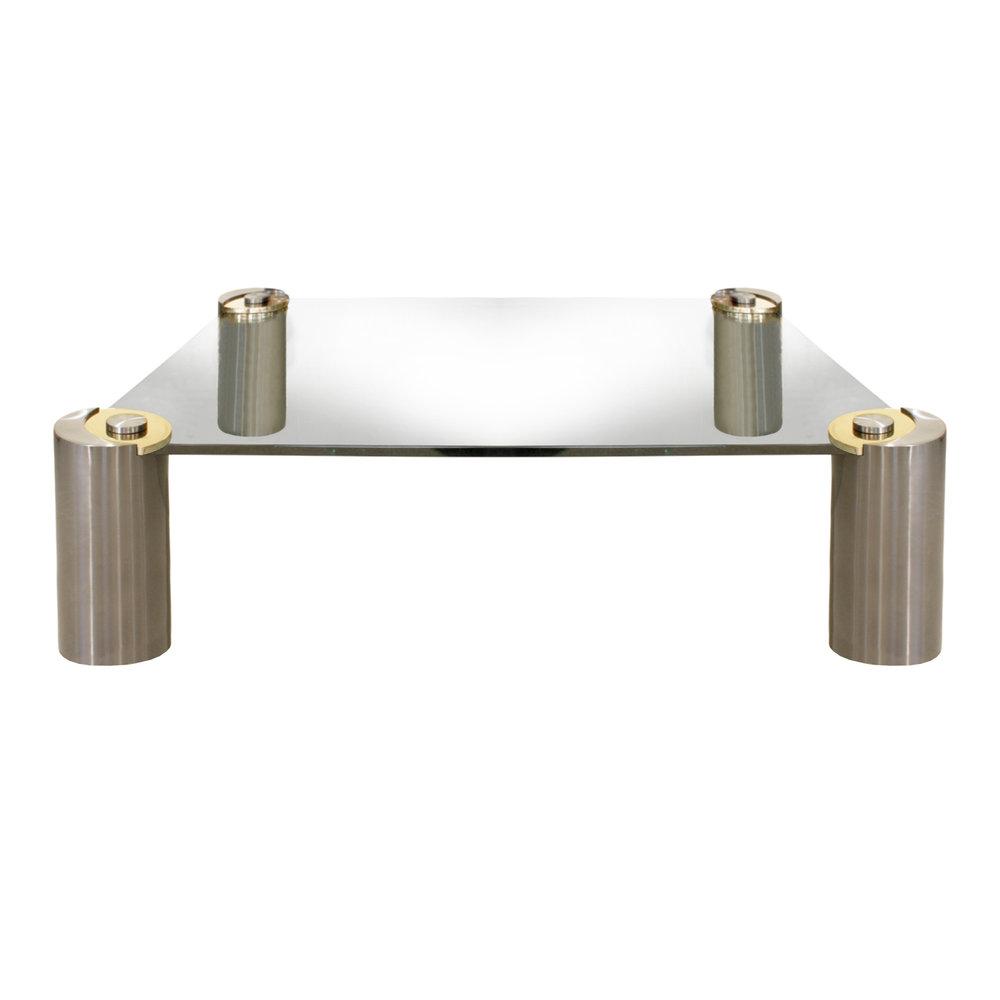 Springer 150 Round Leg gunmtl+brs coffeetable442 main2.jpg
