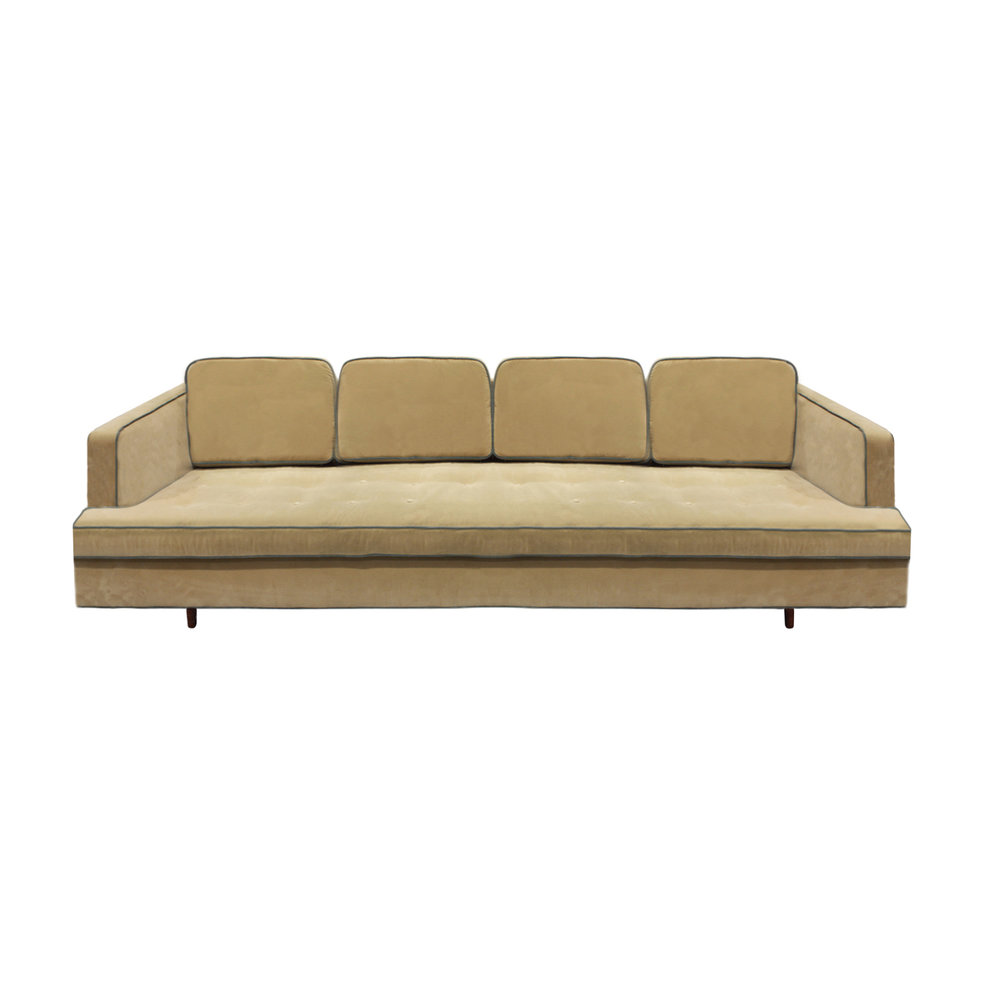 Edward Wormley Elegant Sofa With Mahogany Legs 1950s