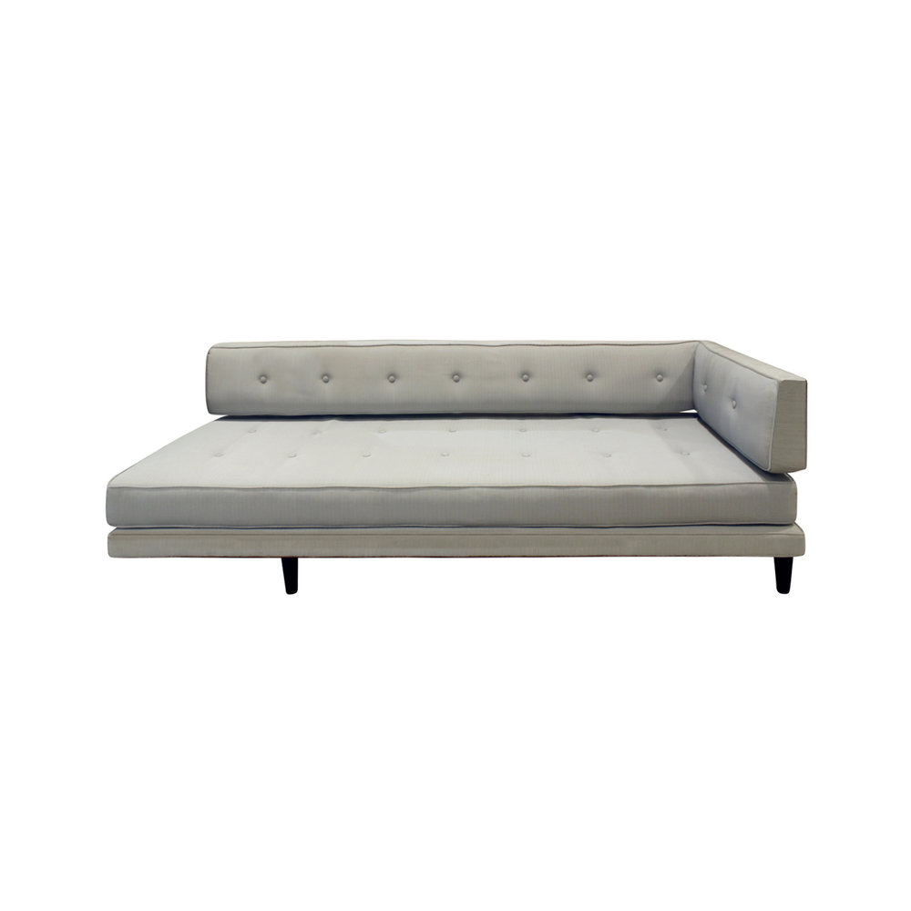 Edward Wormley Elegant Sofa Day Bed With Walnut Legs 1953
