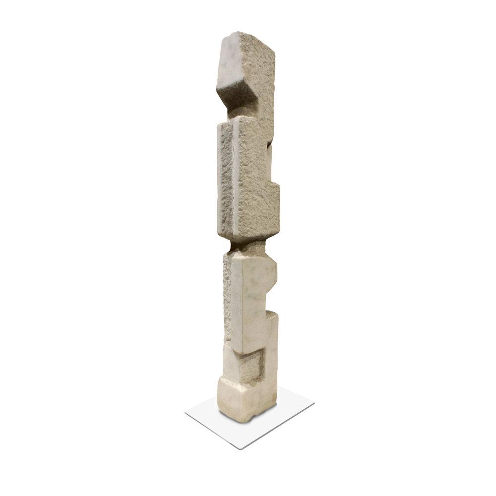 Feinberg 95 Totem Vermont Marble sculpture122 angl3.jpg